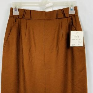 Basler Business Wool Skirt Straight Brown